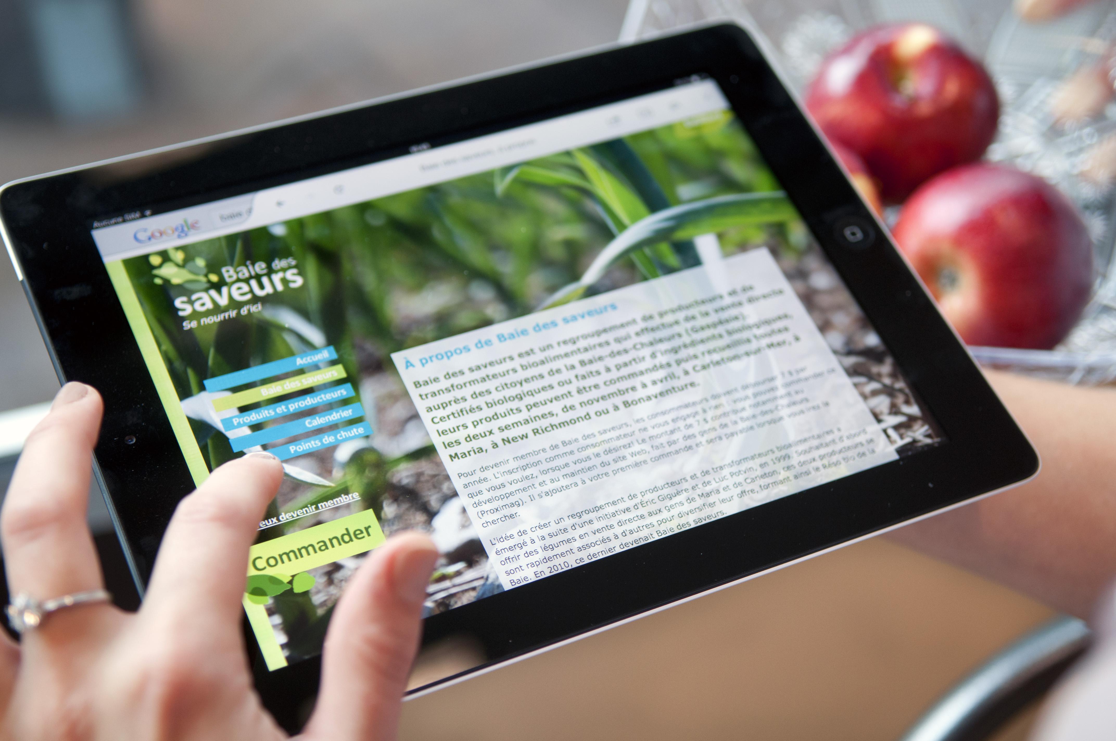 26ddc0abd6e Tablette électronique pour effectuer achat en ligne